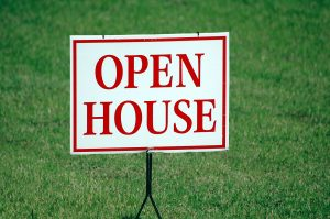 Home buying checklist number 1. Open House (Board sign)