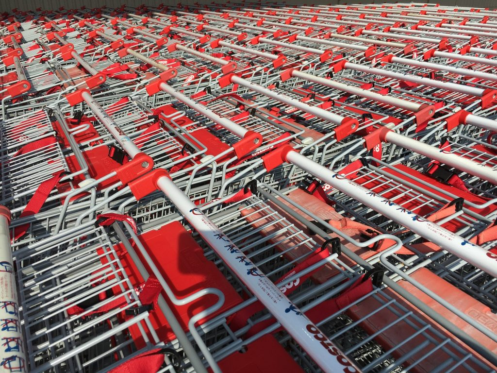 Costco Cart ready for the costco shopping tips